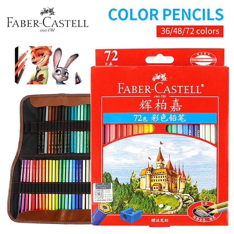 Faber-Castell 48-color 72-color Classic Oily Pencil Red Box Castle Color Lead Into Graffiti Sketch Painting Art Supplies