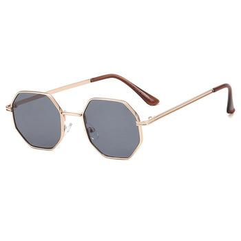 Higodoy Polygon Sunglasses Men Vintage Octagon Metal Sunglasses for Women Luxury Brand Goggle Sun Glasses Ladies Gafas De Sol 10