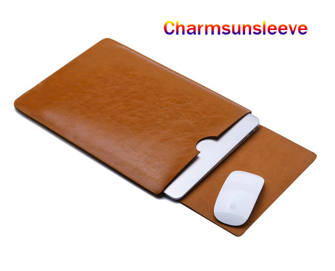 Mouse Pad Pouch Notebook Case For <font><b>ASUS</b></font> ZenBook <font><b>15</b></font> UX533FAC UX533FTC UX534FAC UX534 FT UX533FD Fashion Laptop Sleeve Leather Bag image