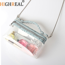 New Customize Design Fashion Transparent Shoulder Crossbody Bags PVC Clear Bag Chain Handbags and Purses