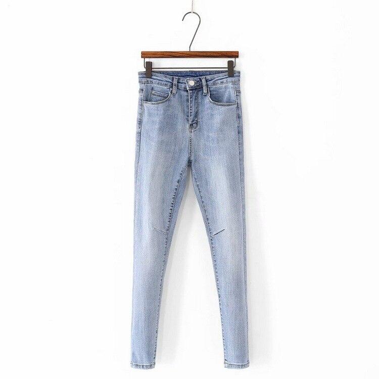 D2-2239 Korean-style Slim Fit Elasticity Skinny Pants Women's Casual Jeans AliExpress