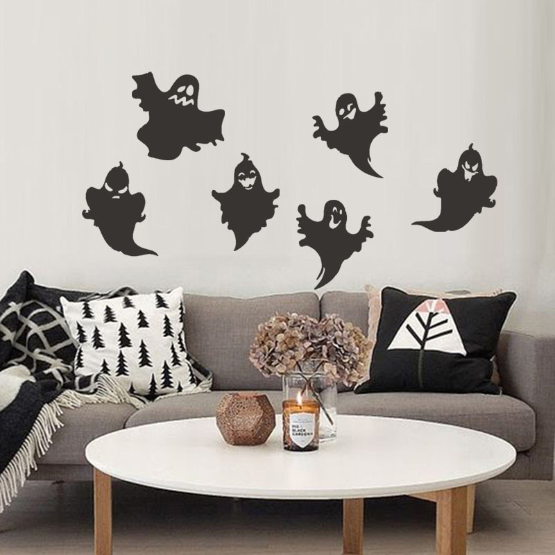 43.5 x 34cm Happy Halloween Funny Ghost Wall Stickers Window Decals Home Room Party Decoration n