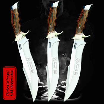 (DEHONG ) U.S.A SA78 high-end enhanced hunting straight blade rescue knife camping straight blade Mirror light tactical knife