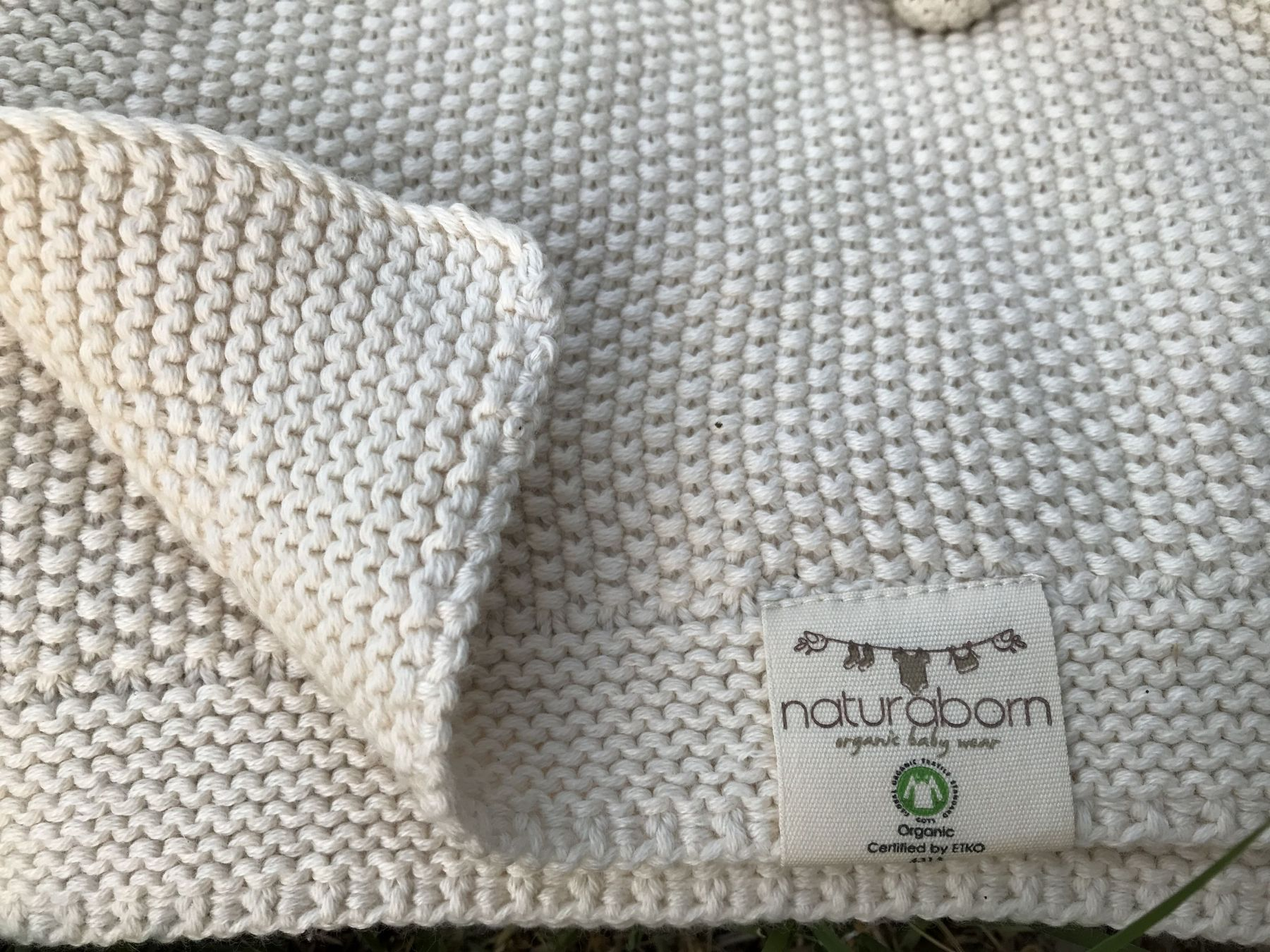 GOTS Certified Organic Baby Trickot Knitted Blanket 80x100 cm
