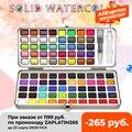 SeamiArt 72/90 Farbe Solide Aquarell Set Grundlegende Neone Glitter Aquarell Farbe für Zeichnung Kunst Farbe Lieferungen