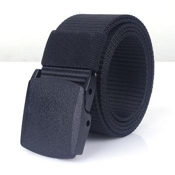 Men's Military-Waist Canvas Belts