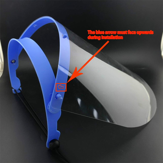 Protective Face Shield  Anti Droplet Dust Saliva proof Full Face Cover Mask Droplet  Windproof Washable Adjustable size 1