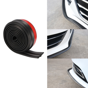 Car Bmper Strip Rubber 60mm Width Exterior Front Bumper Lip Kit Car Sticker Lip Skirt Protector PVC Car-styling 2.5m/8.2ft