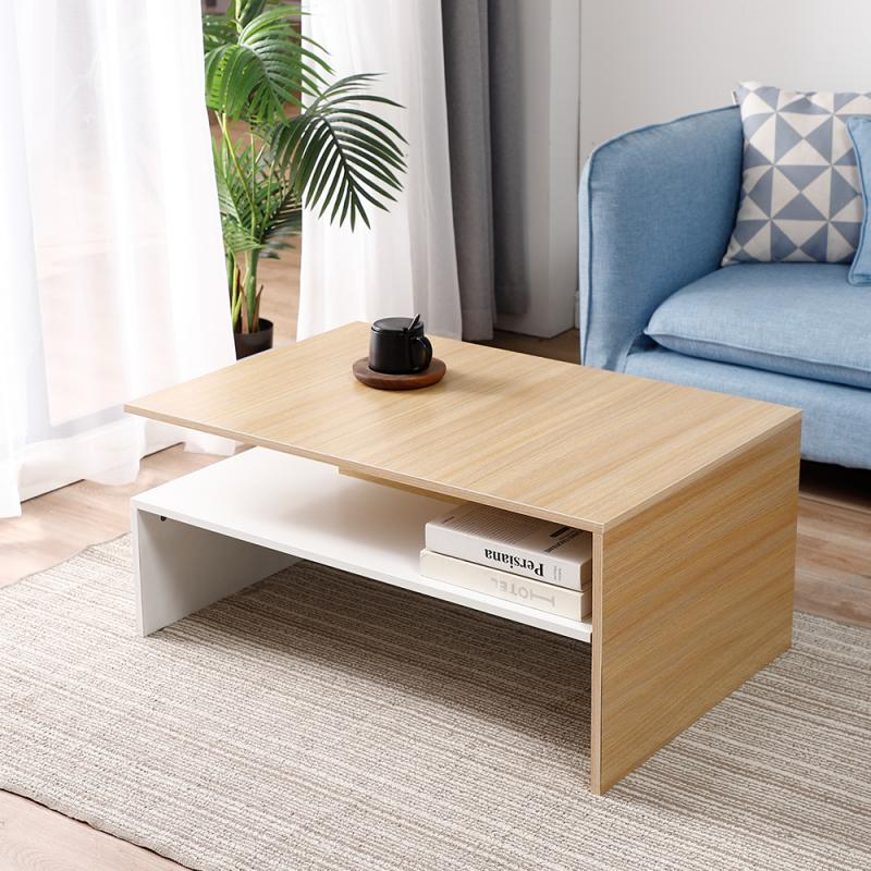 Nordic Coffee Table Conference Table Particle Board Main Body Coffee Table Melamine Board Coating Wooden Home Idle Furniture HWC