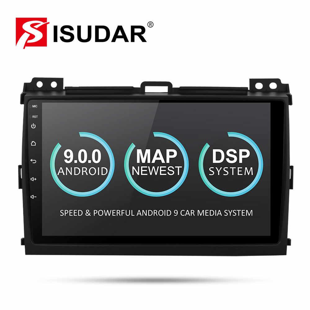 Isudar 2 Din Автомобильный мультимедийный плеер Android 9 для Toyota/Prado 120 2004-2009 автоматическое радио GPS навигация FM камера USB DVR DSP OBD