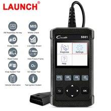 Lançamento cr5001 obd2 scanner de diagnóstico profissional leitor código verificação do motor dados ao vivo obdii obd 2 scanner automotivo