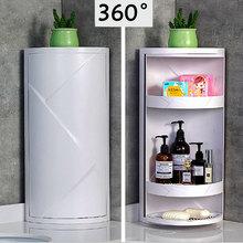 M/L Size Multi-function 360-degree Rotatable Bathroom Storage Rack Corner Storage Cabinet Cabinet Store Cosmetics/Perfum/Shampoo