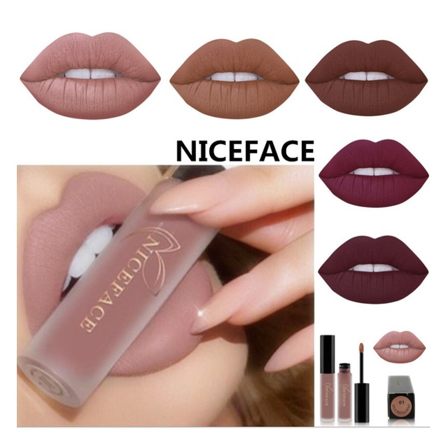 New 24 Color Liquid Lipstick Matte Makeup Waterproof Red Lip Long Lasting Gloss Mate Black Lip Stick Matte Liquid Lipsticks 1