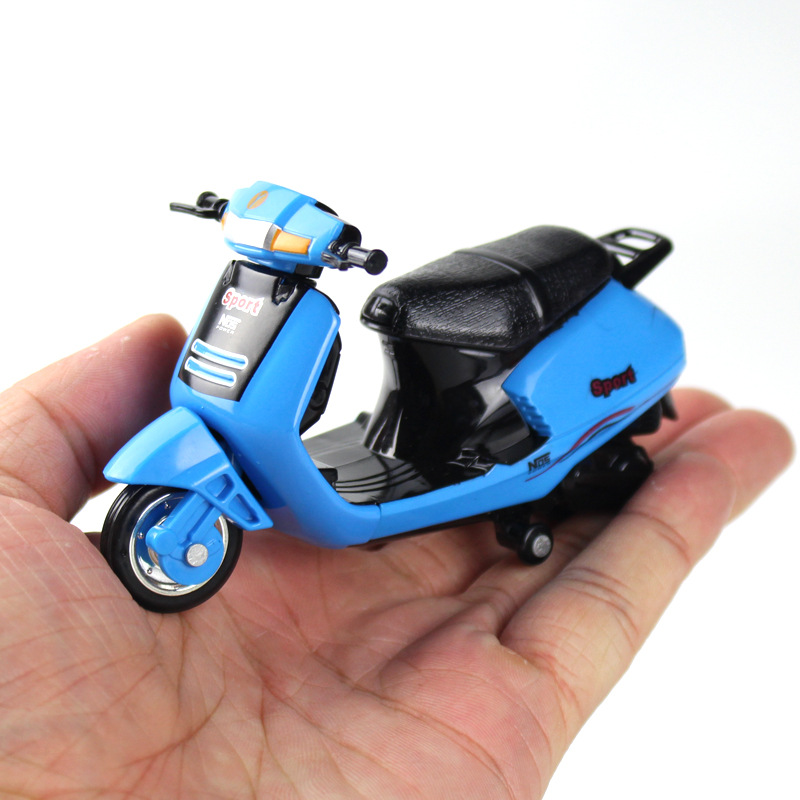 1:18 Mini Model Motorcycle Diecast Pocket Portable Finger Mountain Bike Off-road Vehicle Simulation Collection Toys For Children