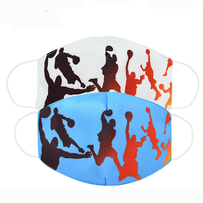 Spot Basketball Figure Mask Adult Mask Dust-Proof Breathable Anti-Fog Haze Mask Boy Mask Children Dust-Proof 2 To 14 Years Old