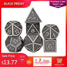 Chengshuo rpg dice polyhedral sets metal dnd dungeons and dragons table games Zinc alloy blue dices digital pattern d20 10 8 12(China)