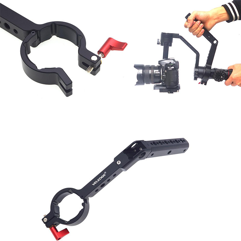 Camera Mounting Handheld Gimbal Grip Extension Arm Monitor Microphone LED Video Light For DJI Ronin S OSMO Zhiyun Crane 2