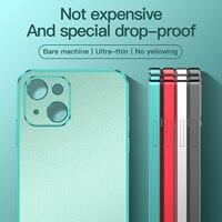 Funda de teléfono móvil Apple iphone13, carcasa electrochapada de color sólido esmerilado, 13Pro Max /mini, 2021