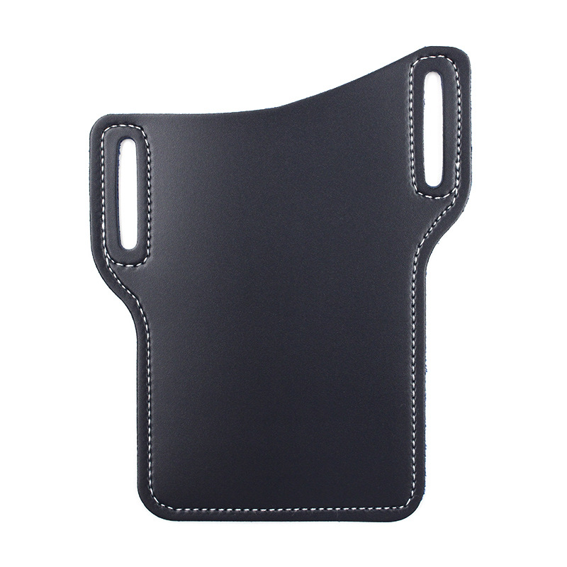 PU Leather Mobile Phone Bag Outdoor Waist Bag Sports And Leisure Waist Hanging Mobile Phone Bag Anti-fall Mobile Phone Cover