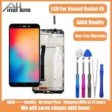 PINZHENG מקורי LCD עבור Xiaomi Redmi 4X תצוגת מסך צגי LCD עבור Xiaomi Redmi 4x תצוגת מסגרת החלפת Digitizer עצרת