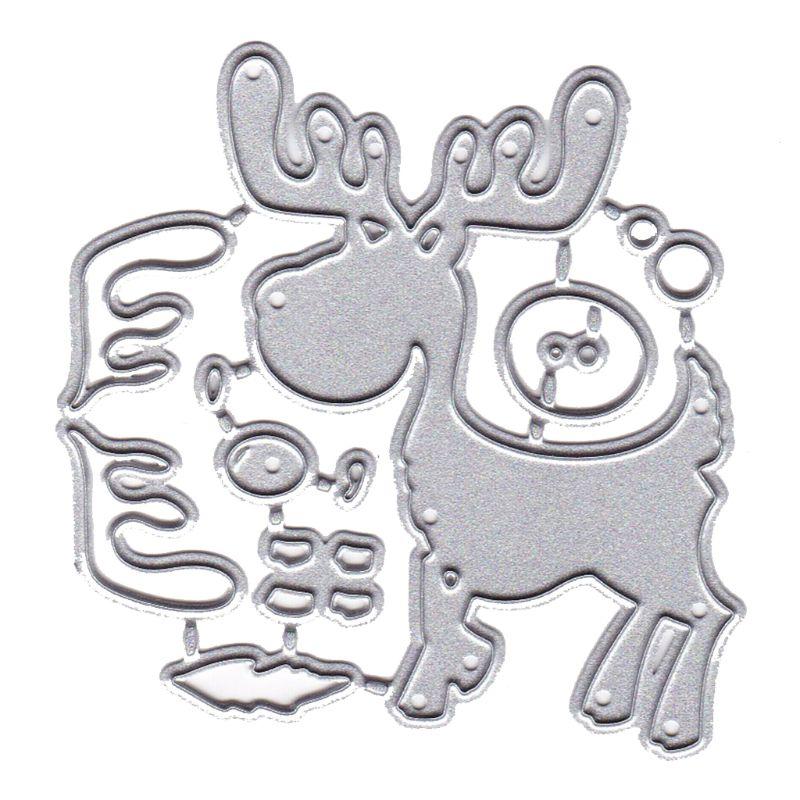 Cutting Dies Deer Set Metal Stencils Embossing Stamps Photo Paper Card Decor
