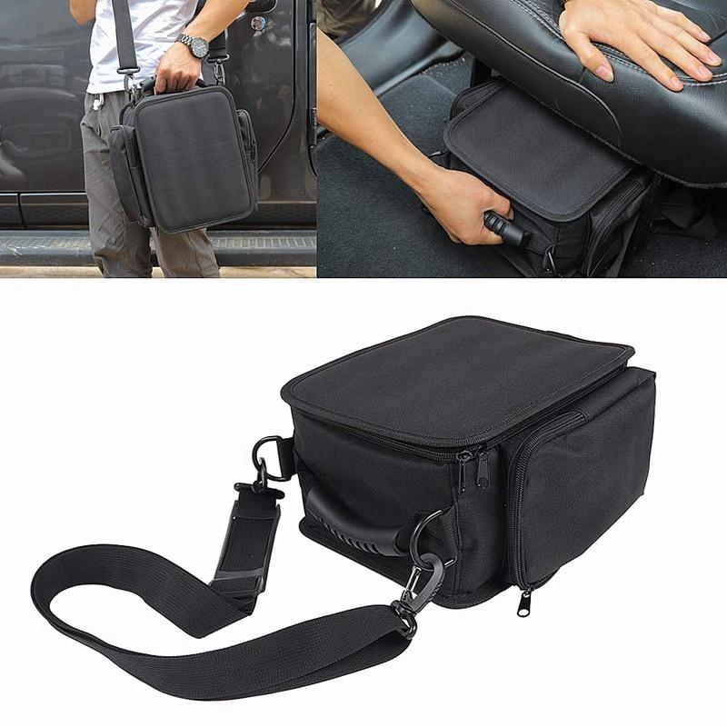 Organizer Backseat Under Seat Storage Bags Fits For Je-ep Wrangler JL Portable Storages Tool Kits Pocket Black Car Interior Acce