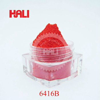 Pigment perłowy pigment perłowy pigment perłowy kolor czerwony pozycja 6416B waga netto 20gram wysyłka gratis tanie i dobre opinie HALI LOOSE farby akrylowe Szkło PŁÓTNO Papier 600mesh paint coatings nail polish facial rouge decoration
