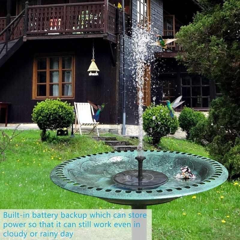 Solar Fontein met Batterij Backup 2.5W Vogel Bad Fontein Vrijstaande Zonne-energie Fontein voor Vogelbad Vijver Tuin
