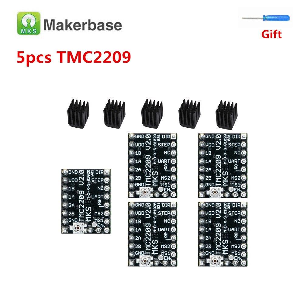 Tmc 2209 driver de passo para bigtreetech skr v1.3 mks tmc2209 stepstick motor stepping driver módulo silencioso impressora 3d drivers
