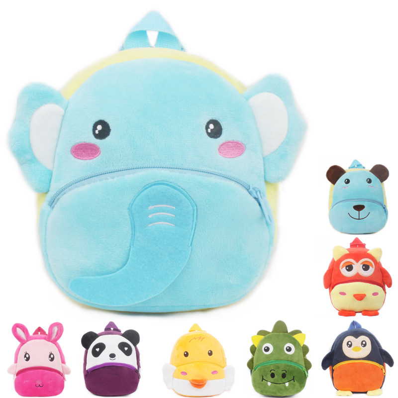 New Cute Baby Plush Backpack Cartoon Animal School Bags Kawaii Children School Bag Kindergarten Boy Girl Schoolbag Kids Gift