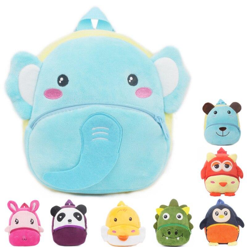 New Cute Baby Plush Backpack Cartoon Animal School Bags Kawaii Children School Bag Kindergarten Boy Girl Schoolbag Kids Gift