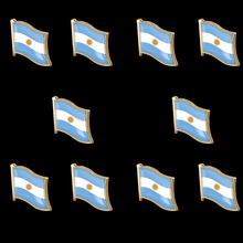 10PCS Argentina Country Stick Hat Brooch Pin Waving Lapel Hat Tie Pin Tack Friendship Lapel Pin