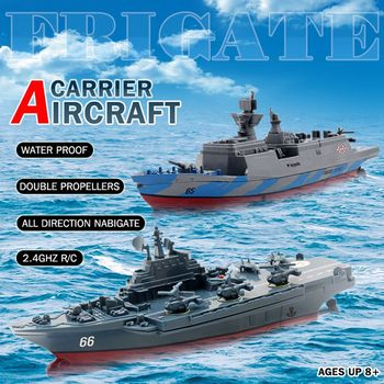 RC Boat 2.4GHz Remote Control Ship Aircraft Carrier Warship Battleship Cruiser High Speed Boat RC Racing Toy Dark Blue 2017 new rc boats remote control yacht model ship sailing plastic children electric toy high speed racing rc boat gifts toys