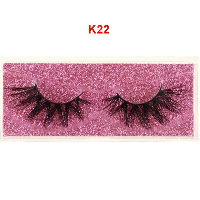 DOCOCER Mink Eyelashes 100% Cruelty free Handmade 3D Mink Lashes Full Strip Lashes Soft False Eyelashes Makeup Lashes 5