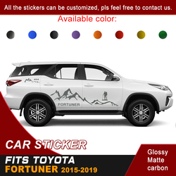 Fit For Toyota Fortuner 2015 2016 2017 2018 2019 Car Stickers Side Body Racing Mountaineering 4X4 Graphic Vinyl Car  Decals