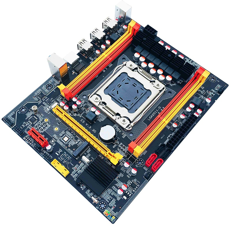 X79 Motherboard LGA 2011 Support E5 8-Core 4XDDR3 Supports 4X16G M.2 Nvme for E5 2650 E5 2680 Xeon Series and I7 Series