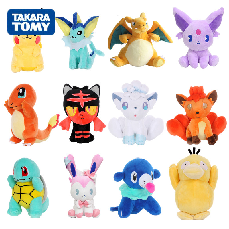 20-30cm Pikachu Jigglypuff Charmander Bulbasaur Squirtle EEVEE Pokemon plush <font><b>toys</b></font> For <font><b>Children</b></font> Activity gift <font><b>Soft</b></font> Doll Anime image