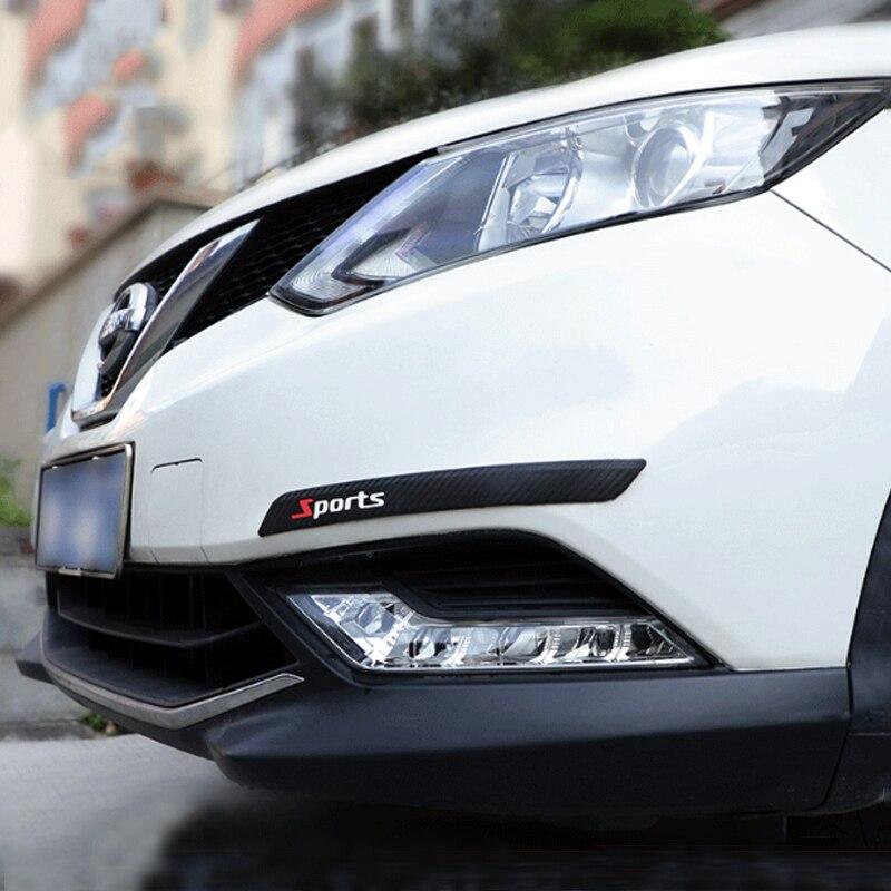 Автомобильный передний и задний бампер, Противоударная полоса, утолщенная модификация из ПВХ, товары для украшения автомобиля, автомобильн...