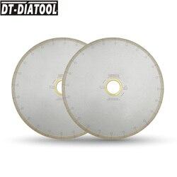 DT-DIATOOL 2 stücke 300/350mm Nass Diamant Keramik Trennscheibe Sägeblätter Mit Haken Slot Bohrung 60mm mit 50mm Minderer Für Fliesen Marmor