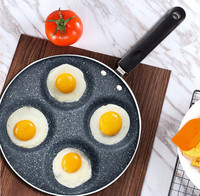 5 Round Holes Frying Pot Thickened Omelet Pan Non-stick Egg Pancake Steak Pan Cooking Egg Ham Pans Breakfast Maker Black Color