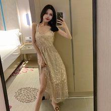Lantejoulas mini-vestidos fora do ombro cinta de espaguete moda marca sexy clube vestido de festa à noite mulher com decote em v primavera outono novo