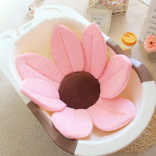 Baby Bath Shower Cushion Infant Bathtub Non-slip Pad Soft Petals Flower Mats Newborn Safety Security Seat Support Care
