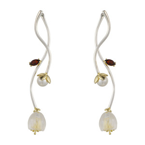 Image 5 - V.YA 925 Sterling Silver Flower Earrings Creative Synthetic Crysta l Campanula Drop Earrings Lovely Women Girls Jewelry