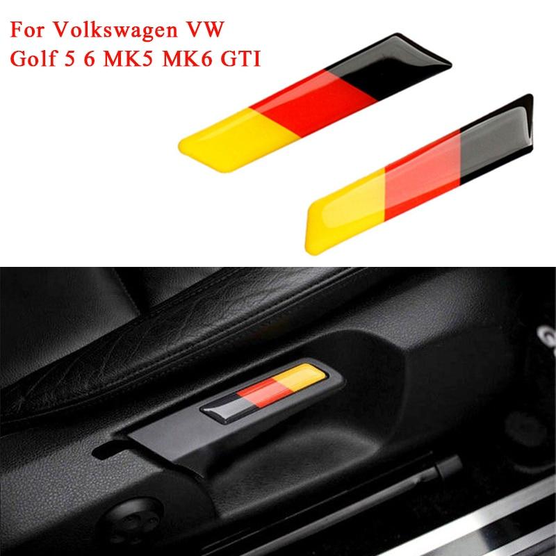 2 шт. 3D Флаг Германии значок эмблема подъемный ключ ручка сиденье вставка Накладка для Volkswagen VW Golf 5 6 MK5 MK6 GTI стайлинга автомобилей