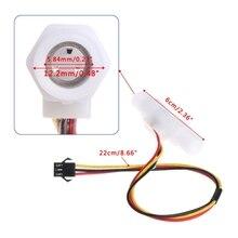 0.3-3.0L/min Plastic Water Liquid Level Flow Sensor Meter Male G1/4