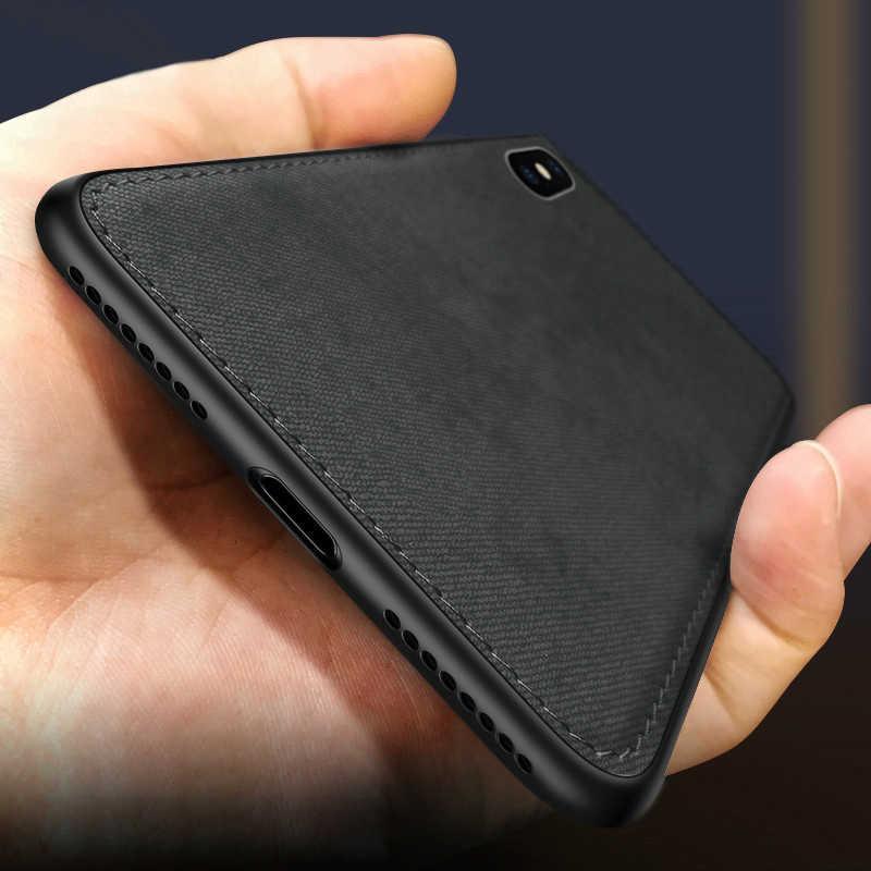 Custodia in silicone ultrasottile in tessuto per iphone 7 8 6 6s Plus 11 Pro X Xs Max Xr SE Texture in tessuto custodia protettiva morbida Coque