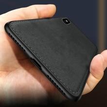 Nueva funda de silicona de lona ultrafina de tela para iphone 7 8 6 6s Plus 11 Pro X Xs Max Xr textura de tela cubierta protectora blanda Coque