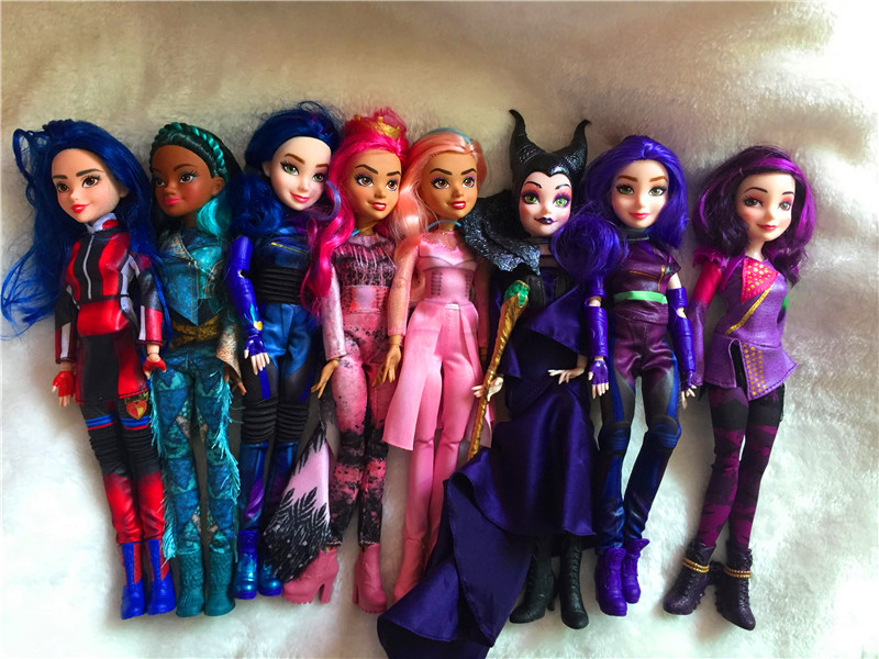 Original 11'' Descendants Doll Action Figure Doll Maleficent Baby Dolls For Girls Boys Evie Mal Descendants  2 3 Bjd