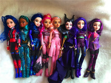 original 11 Descendants Doll Action Figure Doll Maleficent baby dolls for girls boys evie mal Descendants  2 3 bjd