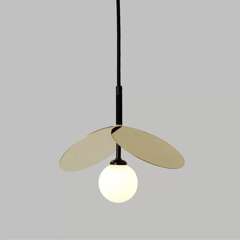 Modern E14 Restaurant Kitchen Pendant lamp White Glass Round Golden Metal Living room Chandelier Home Lighting Fixtures